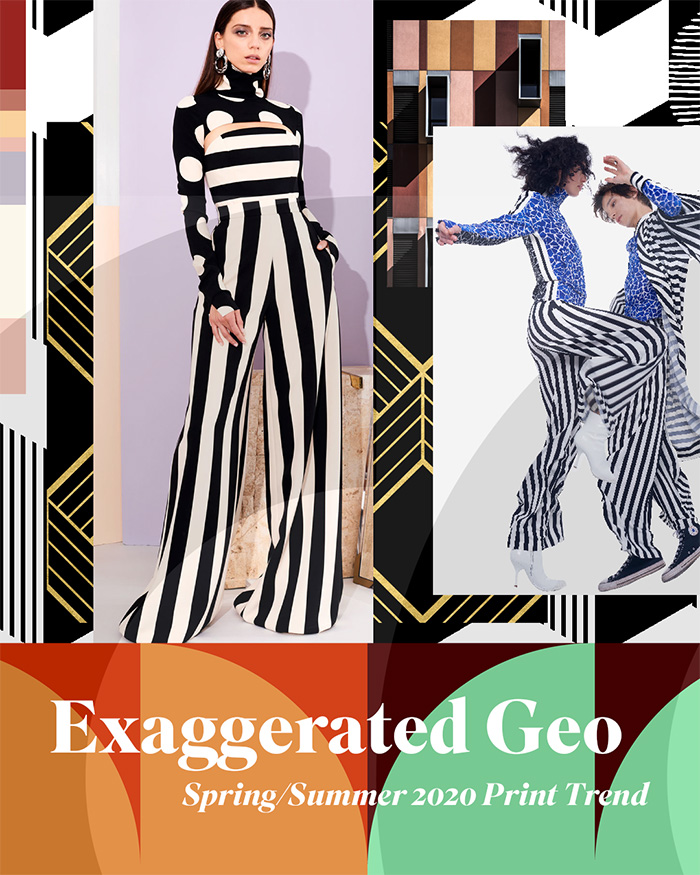 Spring/Summer 2020 Print & Pattern Trend - Exaggerated Geo | Patternbank