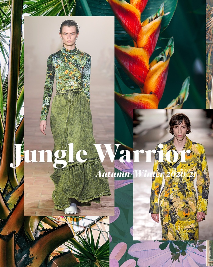 Pattern Trends 2020.Autumn Winter 2020 21 Print Pattern Trend Jungle Warrior